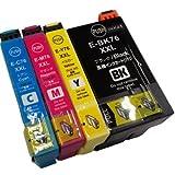 IC4CL76/76XXL 4色セット IC76  エプソン(EPSON)  互換インク PX-M5040F PX-M5041F PX-S5040 対応 【ICチップ付】【1年保証付】