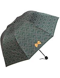 グリーンプリンセス折りたたみ雨傘uv-proofドームパラソルハート型gold-coating