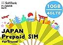 SOFTBANK 回線に接続!日数制限なし 日本で使う4G LTE高速回線接続10GB データ通信専用 プリペイドSIM