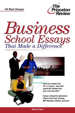 Download Business School Essays that Made a Difference (Graduate School Admissions Gui) 0375763511