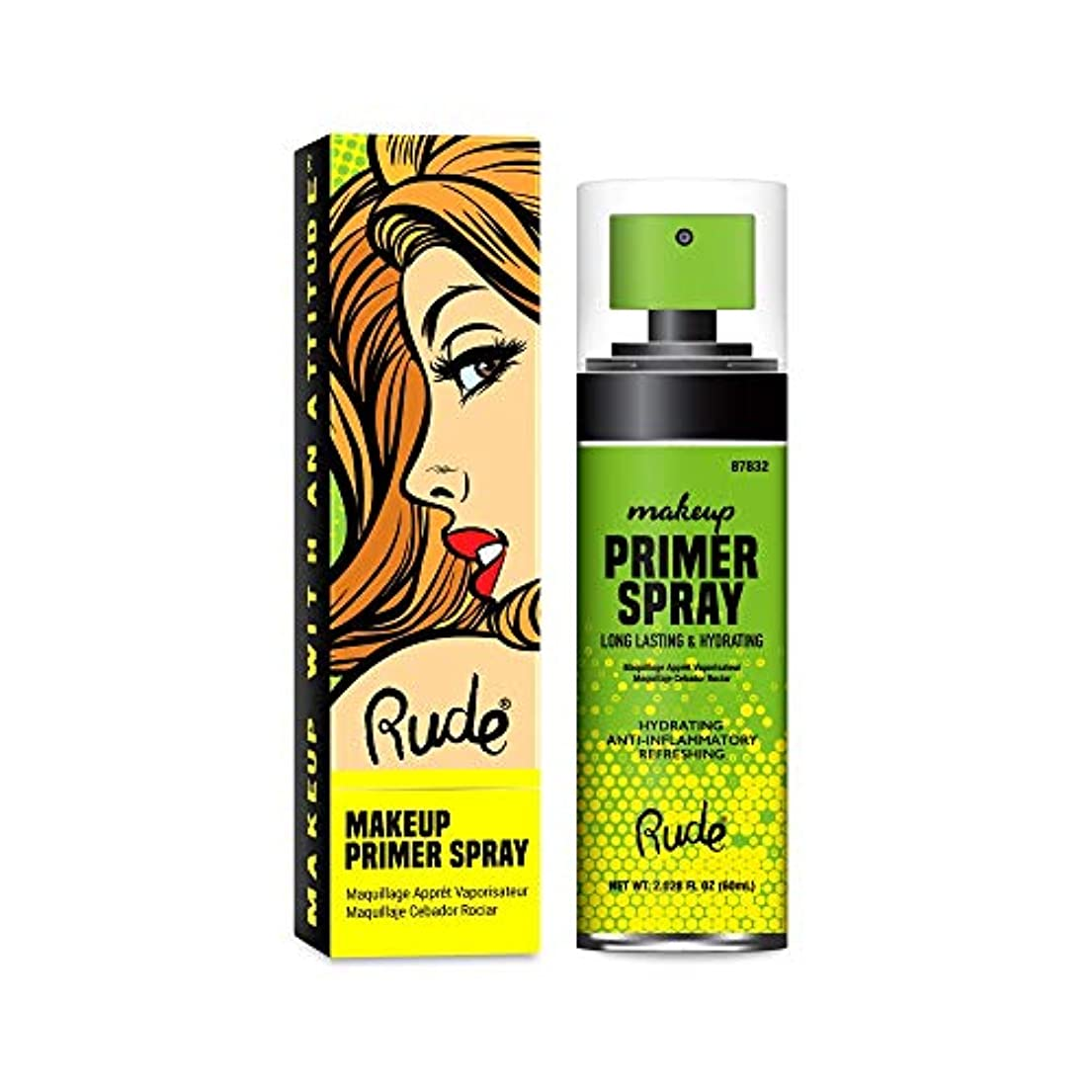 唯物論生態学識字(6 Pack) RUDE? Make Up Primer Spray (並行輸入品)