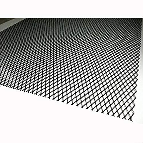 アルミ製メッシュネット1M×33cm黒/グリル加工/エアロ/...