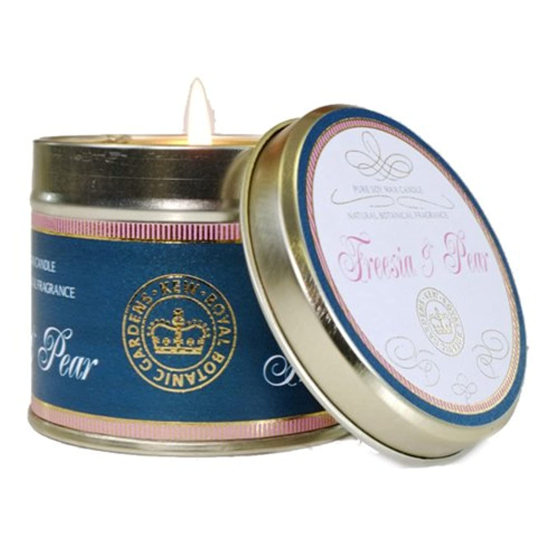 健康従来の排出CANOVA キューヴィンテージ ティンキャンドル フリージア&ペア Kew Vintage TinCandle Freesia&Pear カノーバ