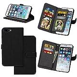 topbin Iphone 7plusカードホルダーケース、iPhone 7Plus財布型ケース、ホルダー柔軟な保護カバーフリップケース内蔵9カードスロットケースのiPhone 7Plus