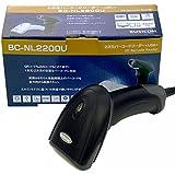 ビジコム QR 2次元バーコードリーダー USB 液晶読取対応 日本語取説あり 1年保証 BC-NL2200U (黒)