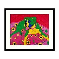 フレーム入りアートプリント「Courageous Clown」 Angela Bond作:外側サイズ23 x 19