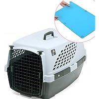 ペットスイート L グレー+キャリーマット ワイド ライトブルー セット 小型・中型犬用 キャリーバッグ キャリーケース クレート