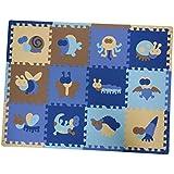 MagiDeal 12Pieces Soft Foam Children Play Mats Interlocking Baby Kids Gym Floor Playing Mat Tiles - Insects / Sheng-Xiao
