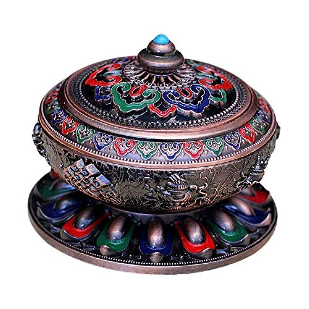 終点布ケーキ香炉 アンティーク 仏教 コーン 香りバーナー 丸香炉 癒しグッズ 琺瑯工芸 全3色 - 赤