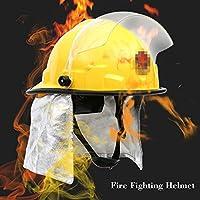 KKmoon 消防用安全ヘルメット 防火 感電防止 / 燃え難しい / ピアス抵抗