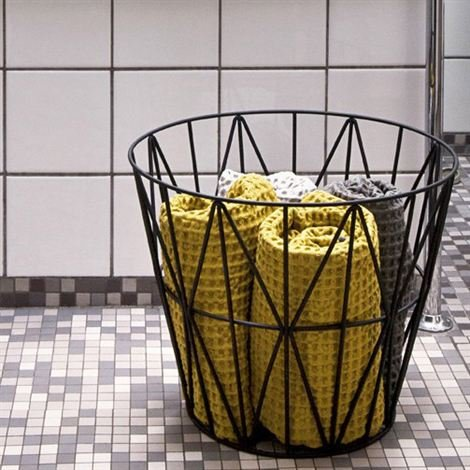 RoomClip商品情報 - Ferm Living(ファームリビング) ワイヤーバスケットSサイズ 並行輸入品 ブラック