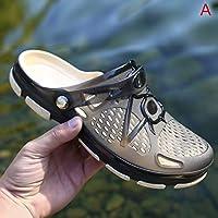 Symboat 夏 サンダルメンズ ゼリー靴 中空 通気性 サンダル スリッパ スリップ 耐摩性 大きいサイズ 穴の靴 男女兼用 水陸両用 速乾 軽量 新品