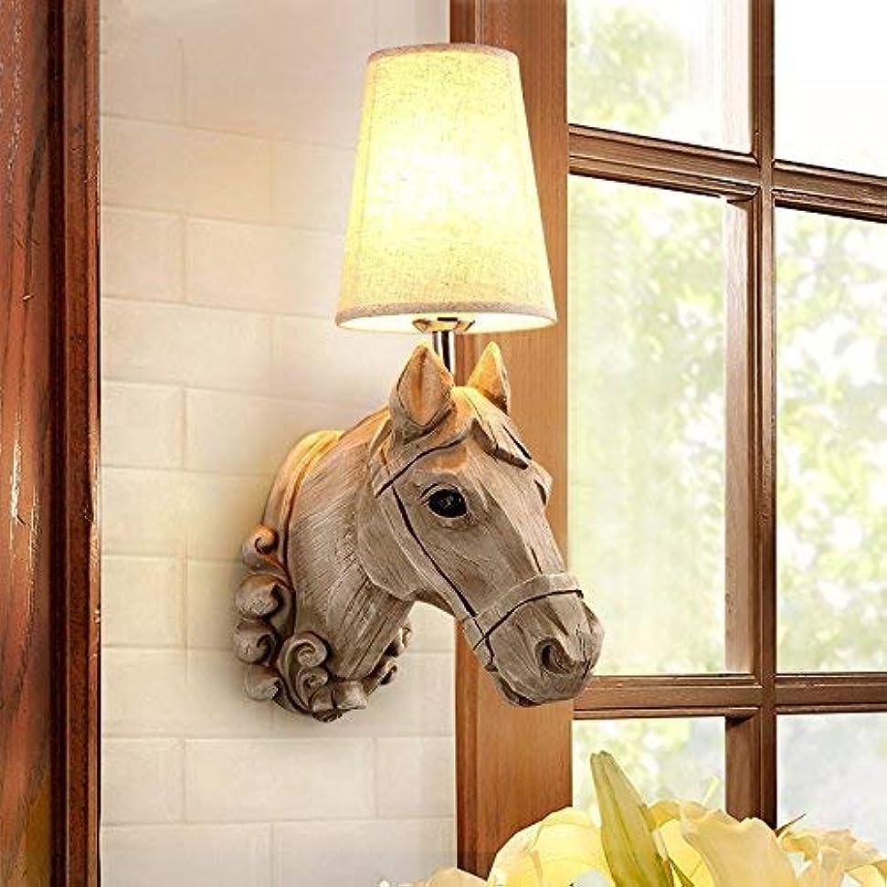 管理するトレース乗算壁面ライト, ウォールランプホテルクラブホール通路通路の寝室樹脂馬の頭壁ランプ、暖かい白 AI LI WEI (Color : Nature White)