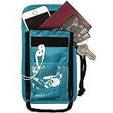 (バッグスマート)BAGSMART ネックポーチ スキミング予防対策 セキュリティネックワレット 貴重品入れ パスポートケース 防犯用品 ショルダーワレット 海外旅行グッズ ブラック プレゼント ギフト