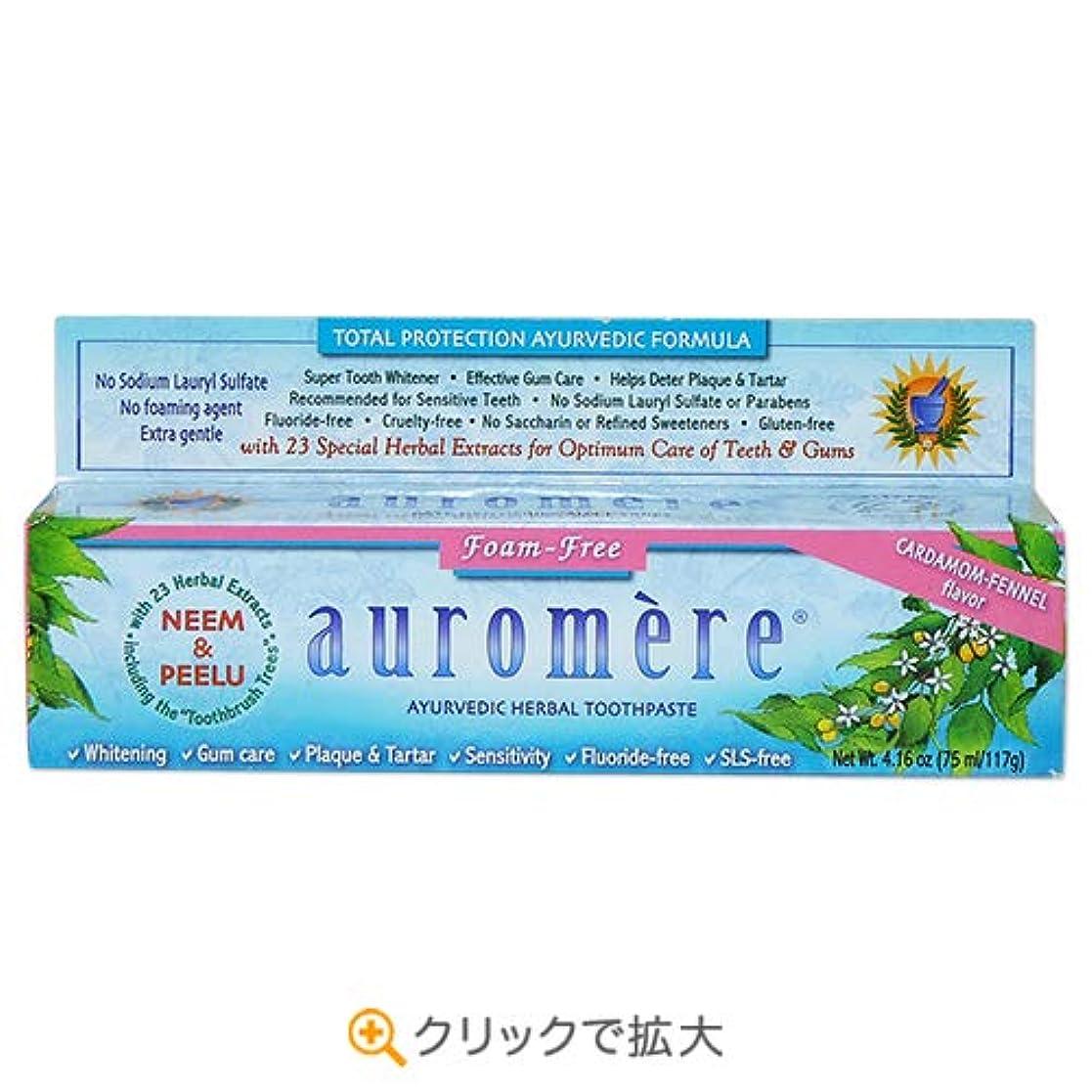 くま早める意見3個セット オーロメア アーユルヴェーダ ハーバル歯磨き粉 フォームフリー 117g[海外直送品]