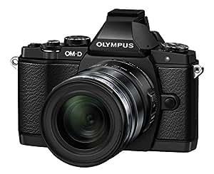 OLYMPUS ミラーレス一眼 OM-D E-M5 12-50mm EZレンズキット エリートブラック E-M5 EZ LKIT EBLK