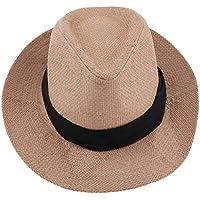 D DOLITY Wide Brim Sun Straw Hat Panama Hat Floppy Sun Protection Hat Bucket Hat