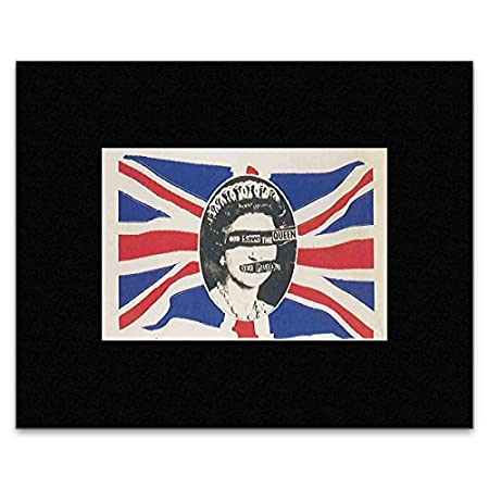 SEX PISTOLS - God Save The Queen May 1977 Mini Poster - 7.1x10.5cm