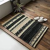 おしゃれ 手織り 屋内 室内 ギャベ ギャッベ 玄関マット SS3-1353 ベージュ 約 70x120 cm ウール マーク付き