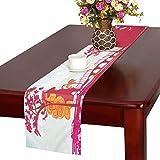 LKCDNG テーブルランナー 立派 和風の建物 クロス 食卓カバー 麻綿製 欧米 おしゃれ 16 Inch X 72 Inch (40cm X 182cm) キッチン ダイニング ホーム デコレーション モダン リビング 洗える