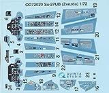 クインタスタジオ 1/72 Su-27UB 内装3Dデカール (ズべズダ用) プラモデル用デカール QNTD72020
