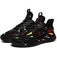 Soulsfeng Running Shoes Men Sneakers Fashion Lightweight Breathable Mesh Gym Training Shoes, Traveling Sport Shoes. Black