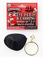Peter Alan Inc. 7113 Pirate Earring And Eye Patch Set