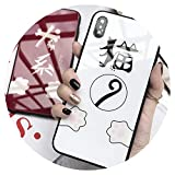 萌える猫の携帯ケース!iPhone適用猫Xs Maxガラス電話ケース カップルiphone適用7plus/8/6s/Xrレディースx,Xrキャットテールガラスケース