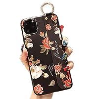ケースiPhone 11 / iPhone 11 Pro電話ケースファッションラグジュアリー電話ケース女の子用TPUケースリストバンド付き360度強力な保護,10,iphone11