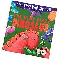 fityleハードカバーPop Up Book、カラフルな図面動物認知( Babies Kids Love ) – Dinosaur