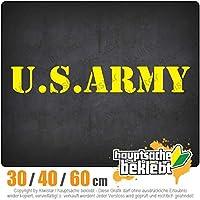 U.S. Army - 3つのサイズで利用できます 15色 - ネオン+クロム! ステッカービニールオートバイ