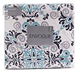 Envogue rossvile Navyダマスク印刷高級布団カバー3つ( 3) -pieceマイクロファイバー寝具セット Full / Queen