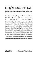 Hofmannsthal Jahrbuch zur Europaeischen Moderne. Band 25/2017