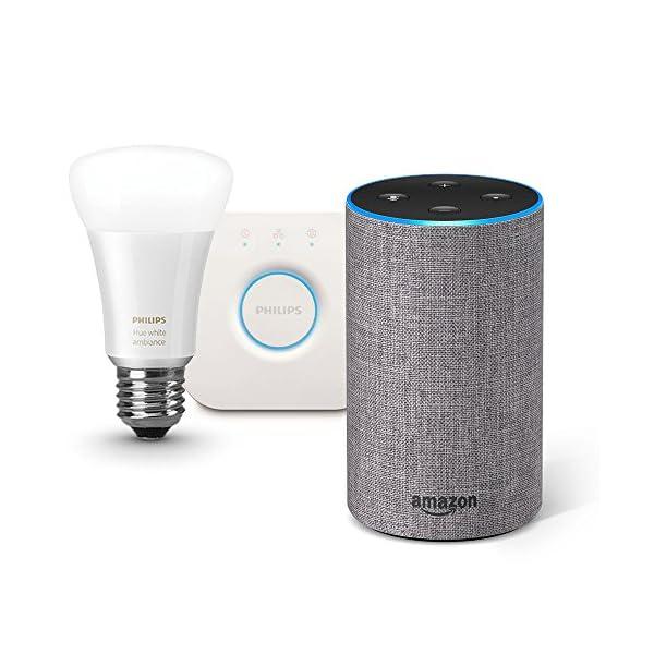 Amazon Echo、ヘザーグレー (ファブリ...の商品画像
