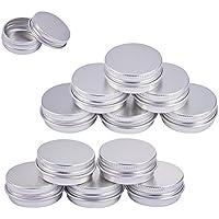 BENECREAT 30個セット15mlアルミ缶 アルミネジキャップ缶 小分け容器 詰め替え容器 クリームケース 化粧品?クリーム?小物用収納ボックス シルバー