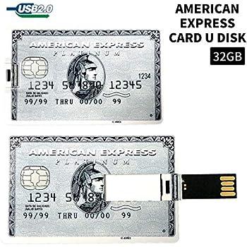 【アメリカンエキスプレス】プラチナカードタイプ USBメモリ32GB 財布に収納可能で紛失を防ぎ常備できる便利なカード型USBメモリ 大容量の32GB アメックス AMERICAN EXPRESS クレジットカードタイプ