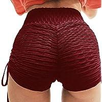 fanmeili-AU Women Butt Lift Sport Gym Running Elastic Waist Yoga Shorts