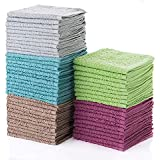 Simpli-Magic 79148 Cotton Washcloths, 60 Pack, Taupe/Turquoise/Lime/Powder Blue/Raspberry 60 Pack