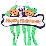 Halloween Decorative Banner Door Drape - Skeleton Green