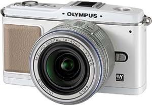 OLYMPUS ミラーレス一眼 E-P1 レンズキット ホワイト E-P1 LKIT-WHT