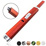 Sparcker Electric Arc Lighter - Multi-Purpose - Safety Lock - Hook - USB Rechargeable - Flameless - Windproof - Butane Free - Candles - BBQ - Camping - Grill - Stove - Gift Box (Red Wood) [並行輸入品]