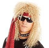 (ザッカリーズ) ZACCARY's ハード ロック ウィッグ 金髪 ロックンロール ヘアネット 遮光防水バッグ セット ハロウィン コスプレ コスチューム 変装 変身 (金髪)
