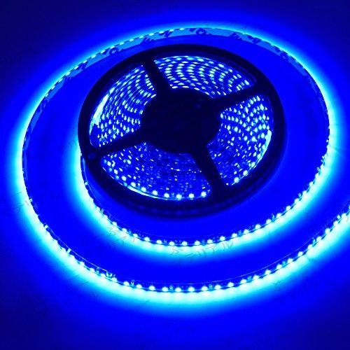 ぶーぶーマテリアル LEDテープ ブルー 青 600連 高輝度 5m 12V 黒ベース 防水 IP65 【カーパーツ】