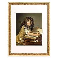 アンヌ=ルイ・ジロデ=トリオソン Girodet de Roussy-Trioson, Anne Louis 「Young girl looking through an illustrated book.」 額装アート作品