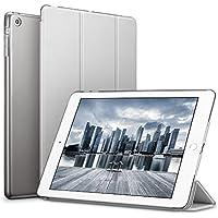 ESR iPad Mini ケース クリア iPad Mini2 ケース レザー PU iPad Mini3 ケース 軽量 スタンド機能 傷つけ防止 オートスリープ ハード三つ折 iPad Mini3/2/1(初代第二三世代) 専用スマートカバー(ギャラクシー グレー)