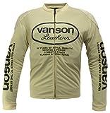 VANSON(バンソン) ロングスリーブメッシュTシャツ IV/BK XL VS-13606S