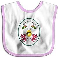 よだれかけ トーゴ国旗の紋章 ベビー ビブ スタイ 男の子 女の子 綿100% 柔らかい 出産のお祝いギフト Black