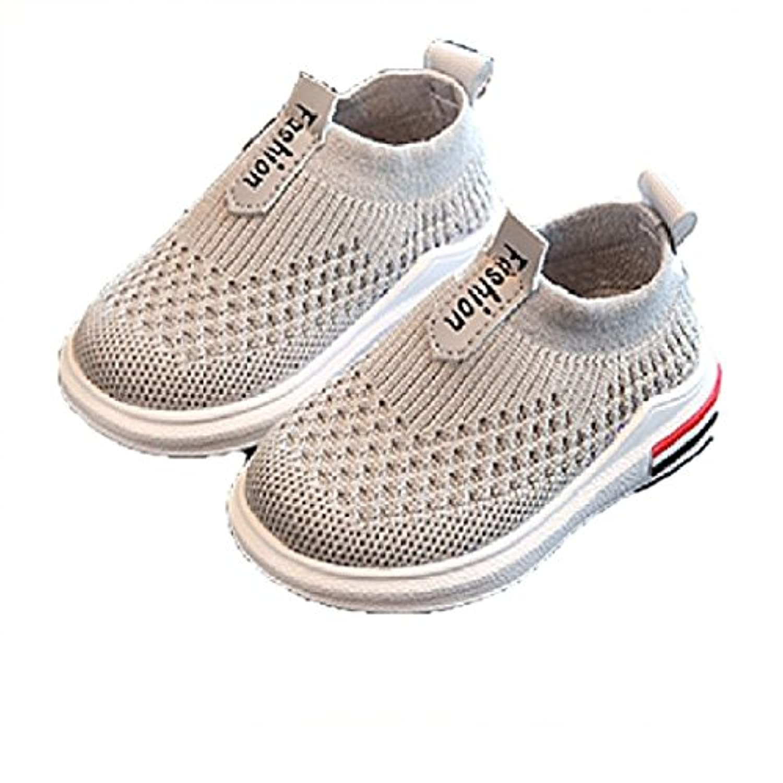[Nana_Collection(ナナコレクション)] 夏 子供靴 男の子 ボーイズ ベビー メッシュ 靴 スニーカー グレー 14.5cm