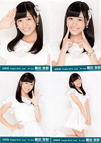AKB48 公式生写真 Theater 2015.June 月別06月 【藤田奈那】 4枚コンプ -