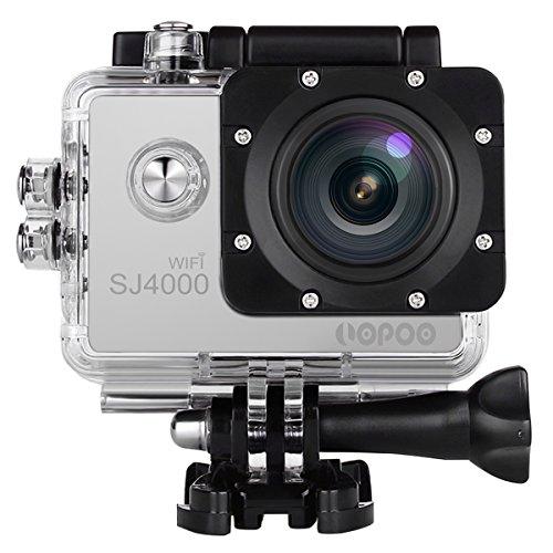 Oittm スポーツカメラ WiFi搭載 30m防水 1080PフルHD動画対応 170度広角レンズ  防水カメラ コンパクト 日本語対応 SJ4000 (シルバー)